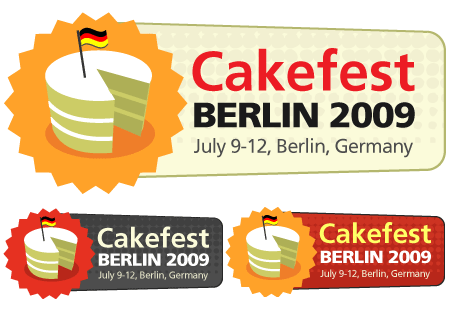 CakeFest Berlin 2009 Badges